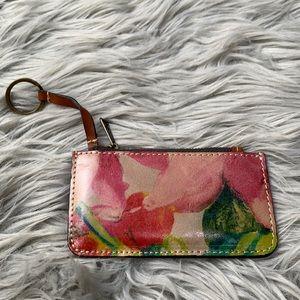 Patricia Nash Italian Leather ID wallet keychain